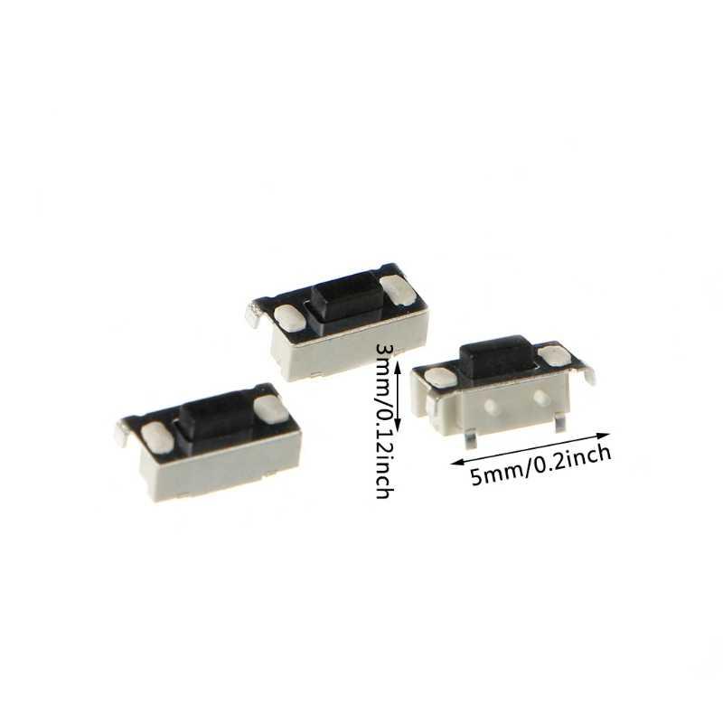 OOTDTY 100 шт. тактовая микро сенсорный переключатель кнопка с самовозвратом 3x6x3,5 мм SMD