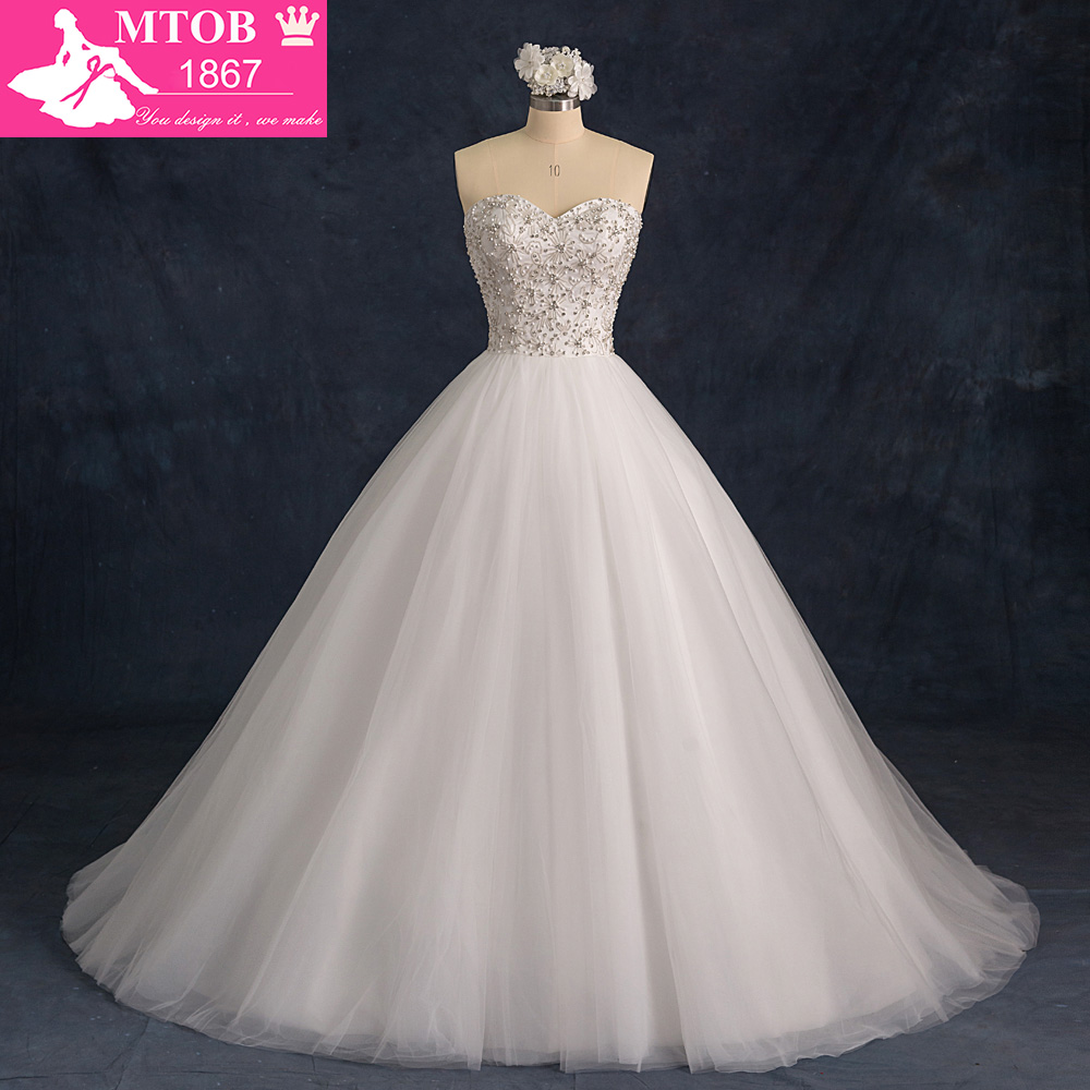 Vestido De Casamento Beaded Lace Wedding Dress 2019 China