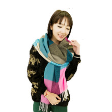 YOULINE bufanda de lujo de la marca de Cachemira de la tela escocesa  Mujeres De La 003048c0f6c