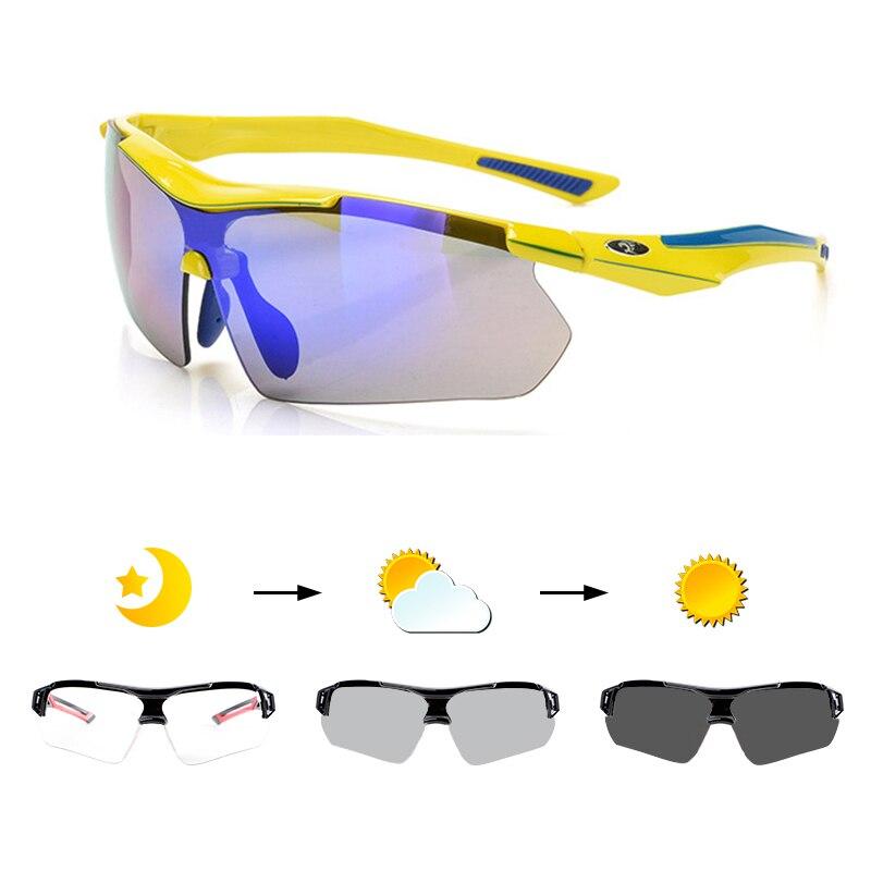 Cyclisme lunettes de soleil polarisées photochromiques vtt lunettes de vélo de route de montagne lunettes de Protection équitation lunettes 3 lentilles