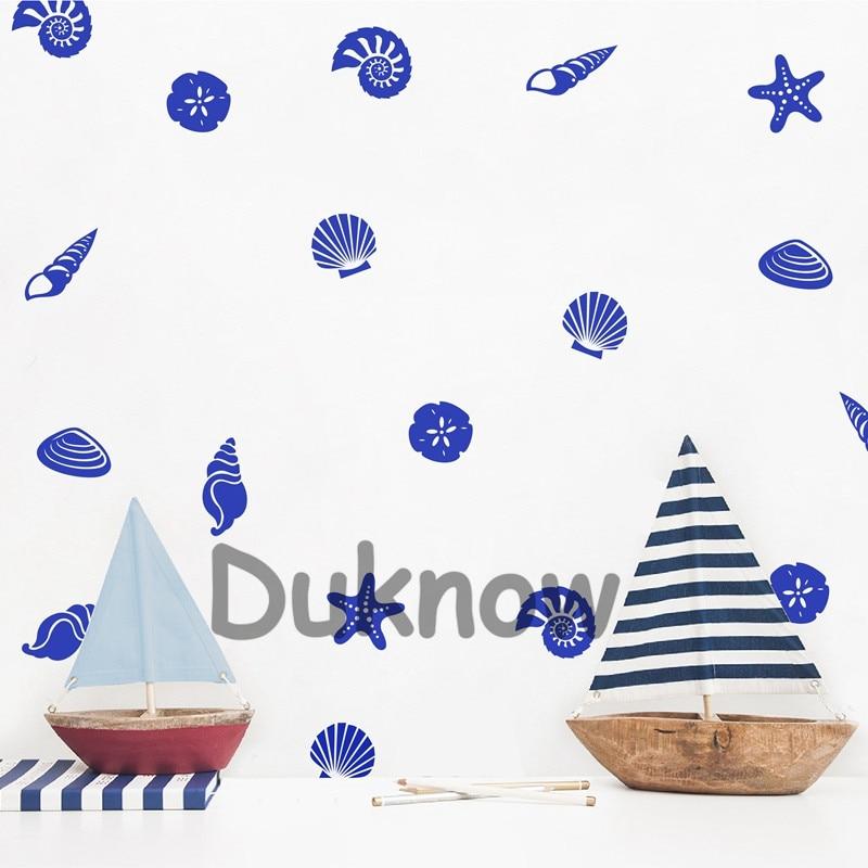 Seashell wall decals kids room decor