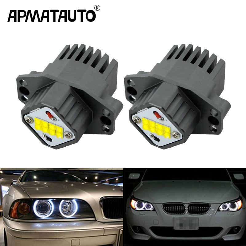 1 Set/2x80 W 160 w LED Halo Ring Marker Angel Eyes Lamp Wit Canbus Fout gratis Voor BMW E90 E91 325i 328i 316i 320i 330i