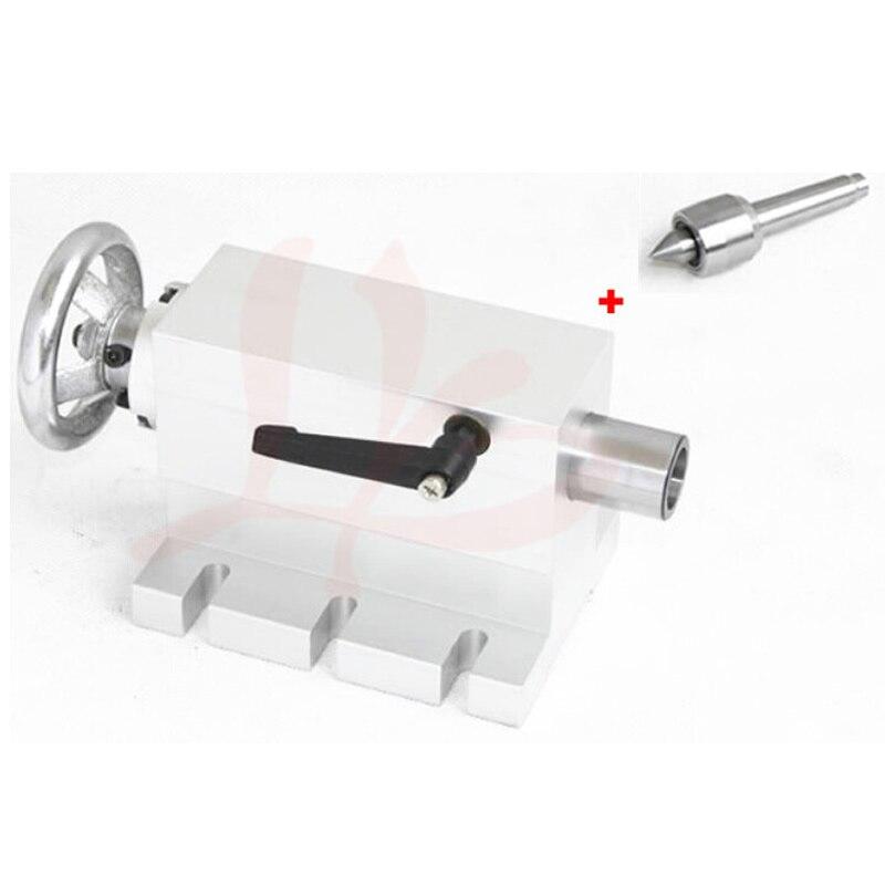 CNC Machine à bois contre-poupée 4 axes MT2 axe rotatif tour pour CNC routeur fraiseuse Machine