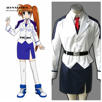 2016 Top Selling Magical Girl Lyrical Nanoha Anime Nanoha Takamachi 1st Halloween Cosplay Costume