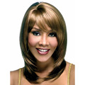 African American Long Straight Hairstyle Heat Resistant Fiber Mix Color Synthetic Hair Wigs SW0164