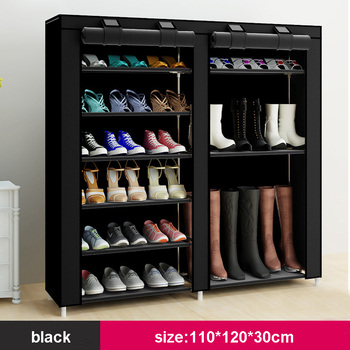 43.3-inch 7-layer 9-grid Non-woven fabrics large shoe rack  1