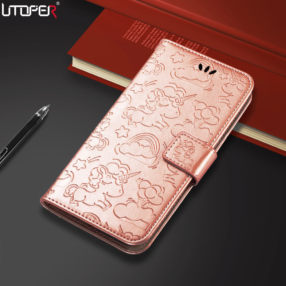 UTOPER Unicorn Case For Apple iPhone X Case 10 Leather PU Wallet Phone Bag For iPhone 6 7 8 Cover For iPhone 6 7 8 Plus Funda