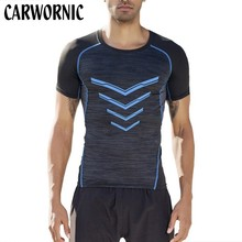 CARWORNIC Men Casual Workout T Shirt Gyms Fitness Bodybuilding T-shirts Male Short Sleeves Quick Dry Tee Tops Summer Clothing