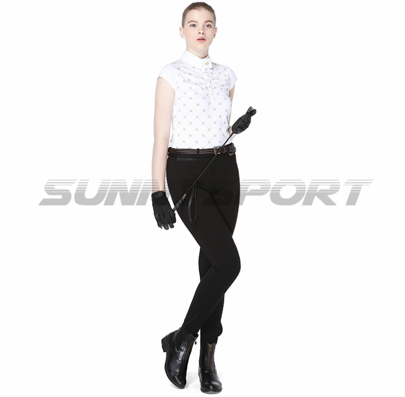 Cavassion Riding Breeches Slim Thin Elastic Knitted Jodhpurs Female Knight Pants Chausses
