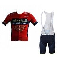 2018 Uci Pro Team Bahrain Merida Summer Cycling Jersey Kits Breathable Bicycle Maillot MTB Bike Clothing