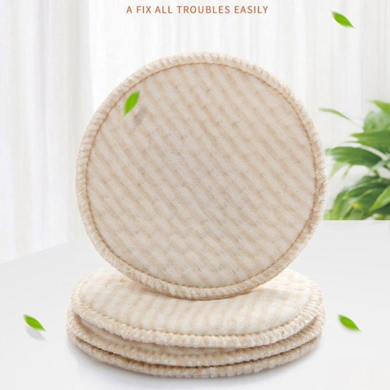 New Breathable Absorbent Cotton Breast Pad Nursing Pads for mum Washable Feeding Pad 4pcs/bag Almofadas de enfermagem A5 ...