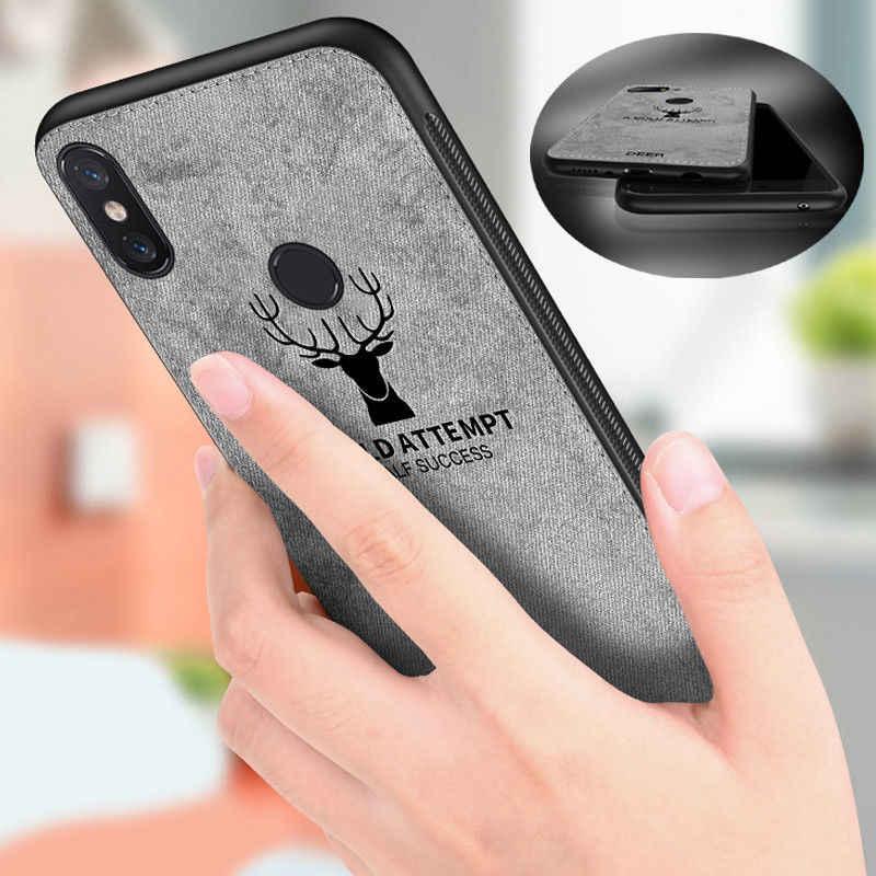 רך TPU קצה בד בולט צבי טלפון מקרה עבור huawei Y7 פרו 2019 נובה 4 3 3i כבוד 8C 8X 7X צפה 20 8 9 לייט בד כיסוי