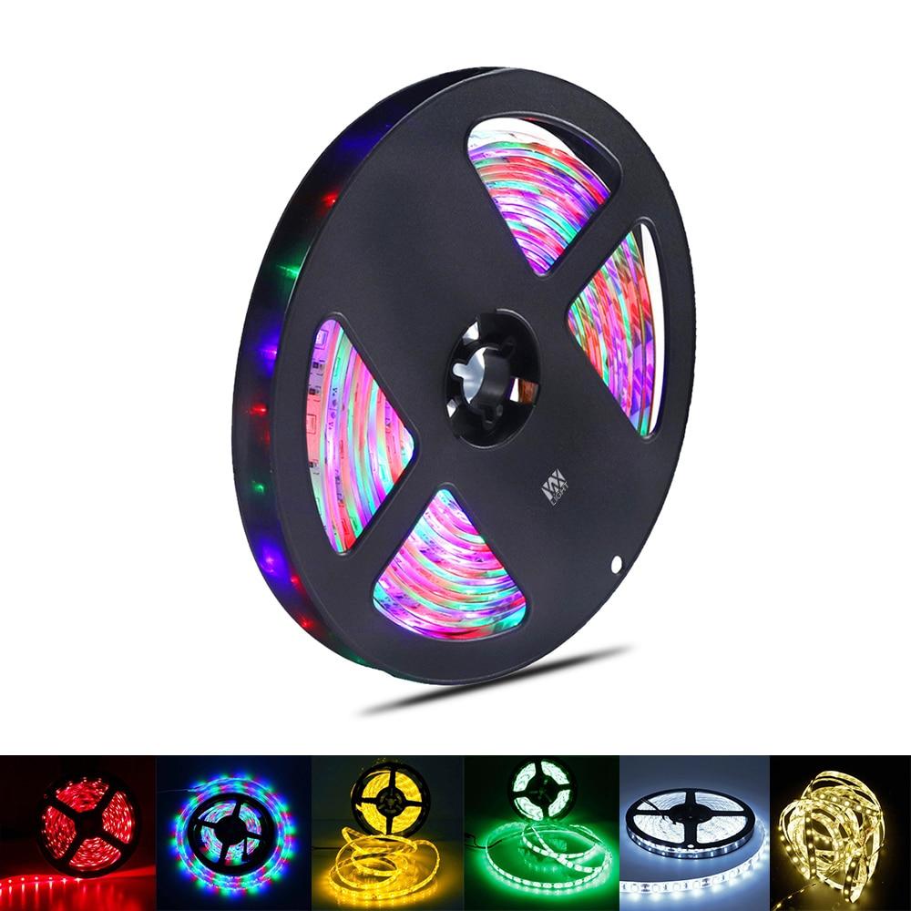 YWXLight LED Strip 5050 2835 5730 SMD DC12V 60LEDs/m 5m/lot Flexible LED Light RGB LED Strip Lndoor Decorative Tape