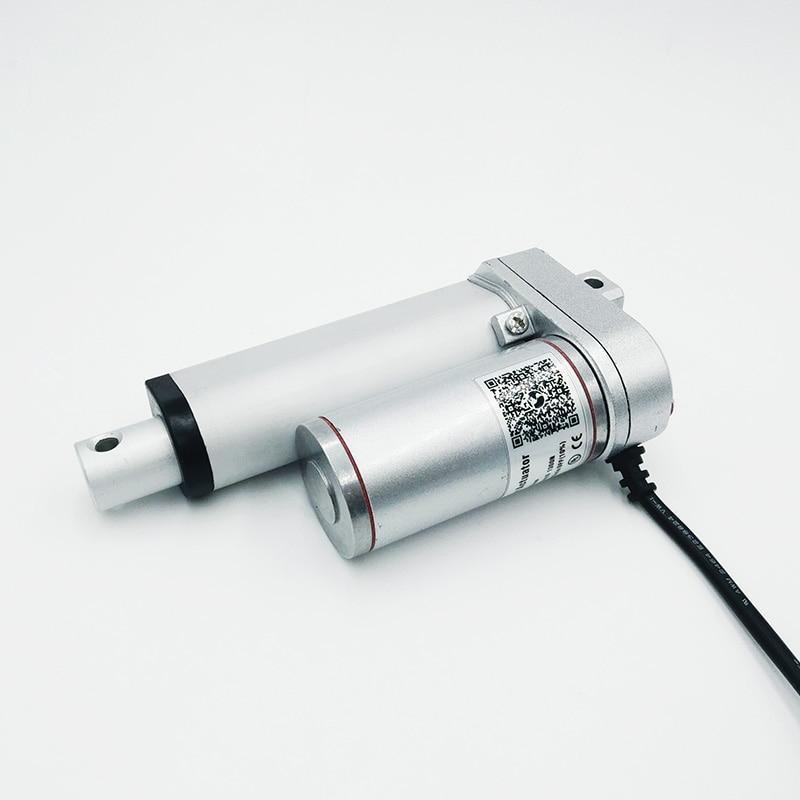 Actuador lineal eléctrico 100mm lineal de carrera controlador de motor dc 12 V 24 V/100/200/300/ 500/600/750/800/900/1100/1300/1500N
