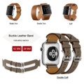 38 42mm pulseira de couro genuíno para herm apple watch band único passeio/double tour/manguito pulseira de couro para a apple watch para iwatch