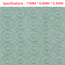 18650 lithium battery insulation gasket, hollow flat head, highland barley paper, single link, 1 section insulation pad, meson