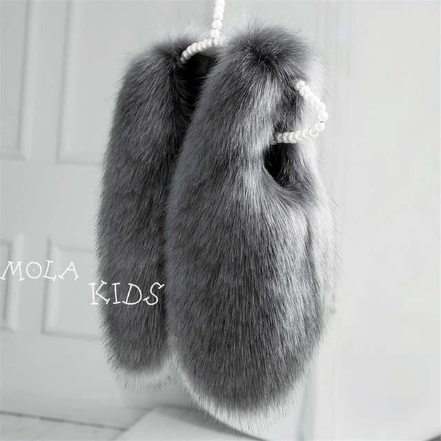 e298c2b8137a Online Shop Baby Fur Coat Real Fur Clothes Infant Winter Vest ...