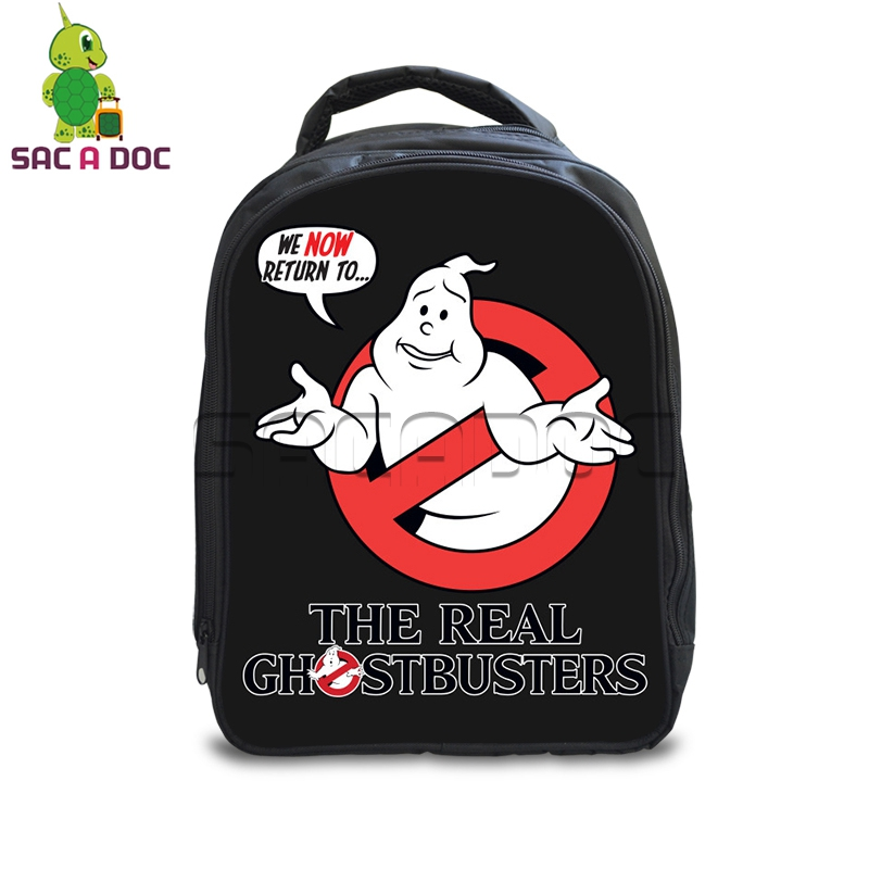Funny The Real Ghostbusters Printing Backpack for Boys Girls School Bags  Kids Backpack Cartoon Ghostbusters Schoolbags 2b8a31b4eb