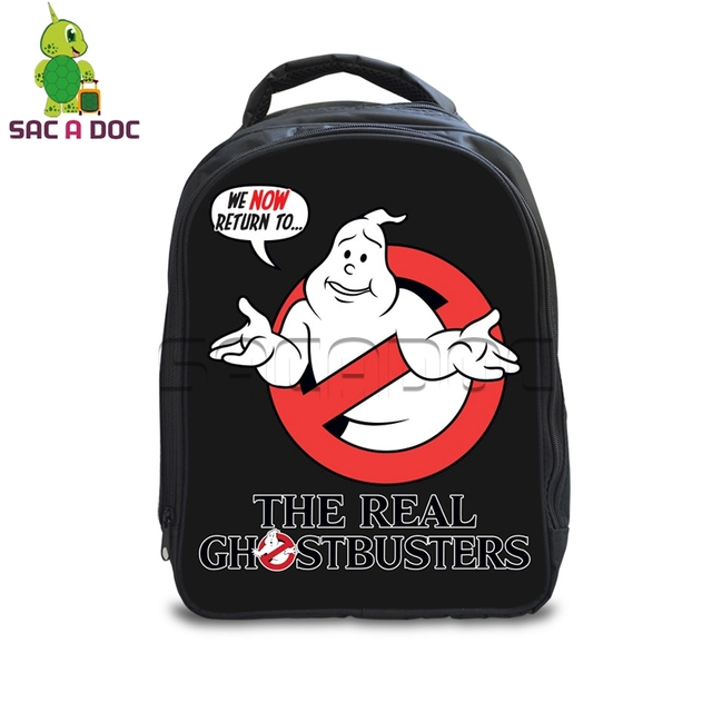 d7d2ce5884a6 Funny The Real Ghostbusters Printing Backpack for Boys Girls School Bags  Kids Backpack Cartoon Ghostbusters Schoolbags Gift Bag