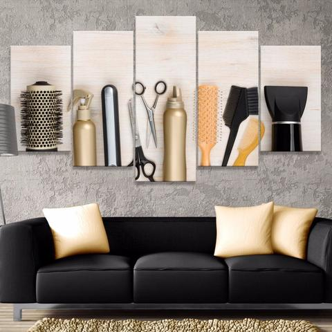 5PCS Modern Haircut Tools Products Prints Murals Nordic Decorations Wholesale Canvas Movie Posters Home Decor Gifts