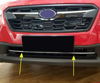 ABS Chrome Front Bottom Grille Grill Cover Trim 1pcs For For Subaru XV 5 Doors Hatchback
