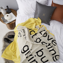 Nordic Style Cotton Knit Blanket Multi-function Line Simple Bed Tail