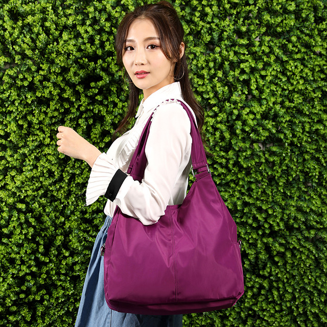 2018 New Casual Women Handbag Waterproof Nylon Shoulder Bag Fashion Design Good quality Wear-resistant Big Tote Messenger Bags