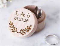 16b0bc532b Vintage Custom Wedding Ring Box, Personalized Valentines Engagement Wooden  Ring Bearer Box, Rustic Wedding Ring Box Holder