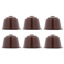 6 Pcs/Pack Refillable Reusable Refill Coffee Capsule Pod Filter Bracket Cup for Nescafe Dolce Gusto Machines Cafeteira