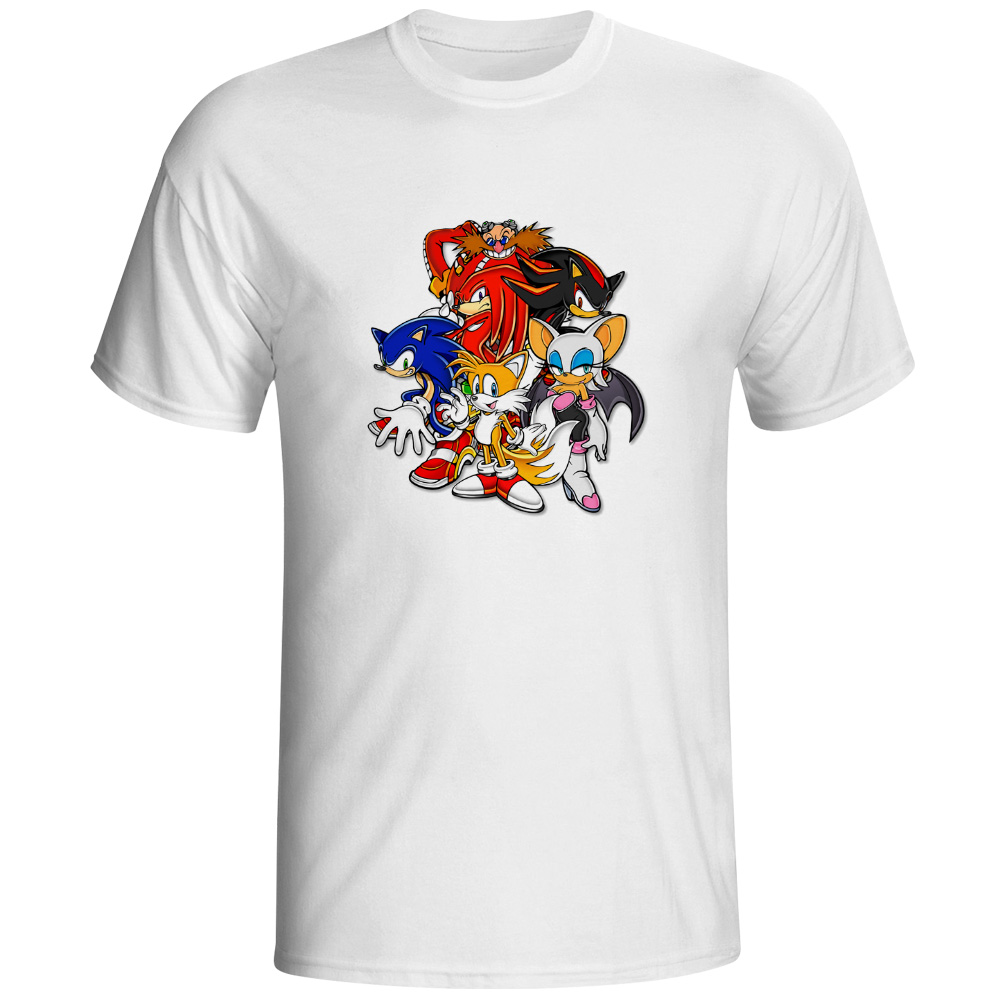 T Shirts Cartoon Characters : Cartoon characters sonic team t shirt print rock hip hop