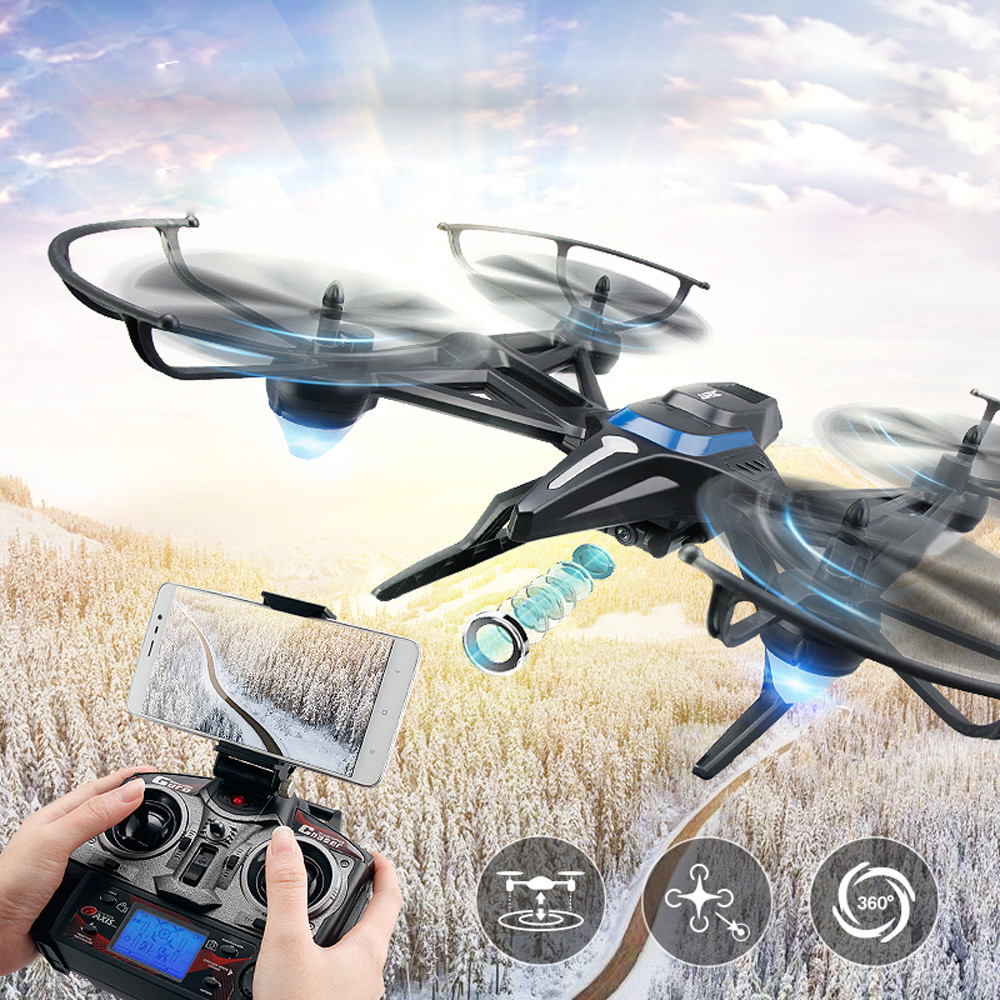 JJRC H50 2.4GHz 4-axle Drone Gyro Altitude Hold Headless Mode 360 Degree Roll No Camera RTF RC Quadcopter Black ,Blue  Drones jjrc h39wh rc drone with camera wifi fpv 720p headless mode rc helicopter altitude hold drones 360 degree rotation foldable arm