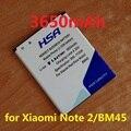3650 mah batería baterías para xiaomi redmi note 2 bm45 red rice note2 para hongmi note 2 batería