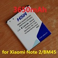 3650mAh BM45 batteries for Xiaomi Redmi note 2 battery Red Rice Note2 for Hongmi Note 2 battery