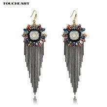 Toucheart очаровательные этнические красочные длинные серьги