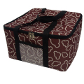 8inch cute thermal pizza taking bag insulated cooler Bag Food Container fabric oxford organizer