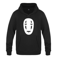 Spirited Away Hoodies Mens 2018 Fashion Cotton Anime Spirited Away No Face Man Sweatershirts Unisex Thick Pullover Trendy