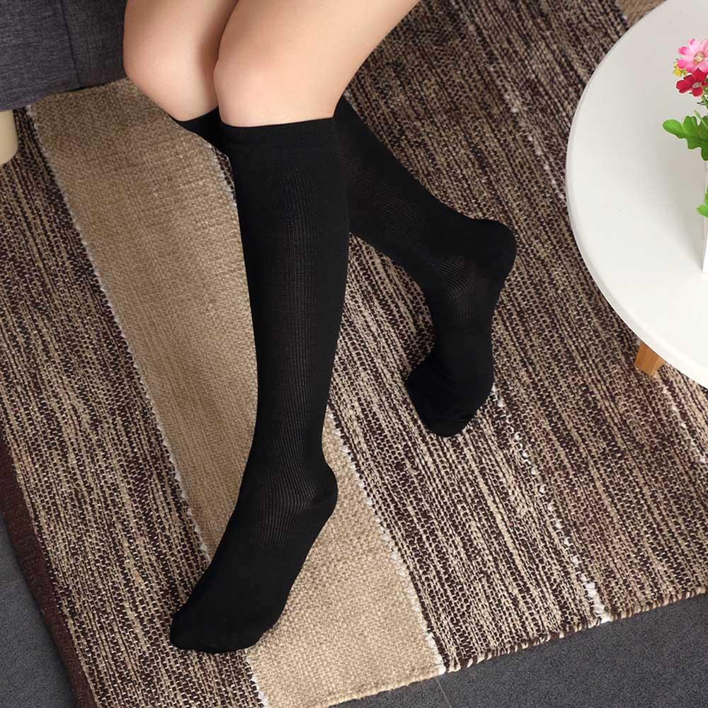 1Pair Unisex Women Men Compression Socks Flight Travel Anti-Fatigue Knee High Long Socks women socks