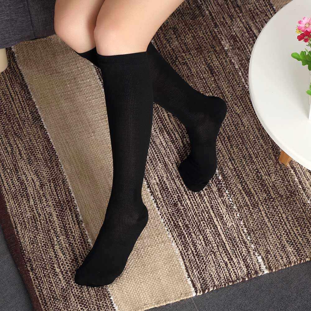 0e1d227c4a 1Pair Unisex Women Men Compression Socks Flight Travel Anti-Fatigue Knee  High Long Socks women
