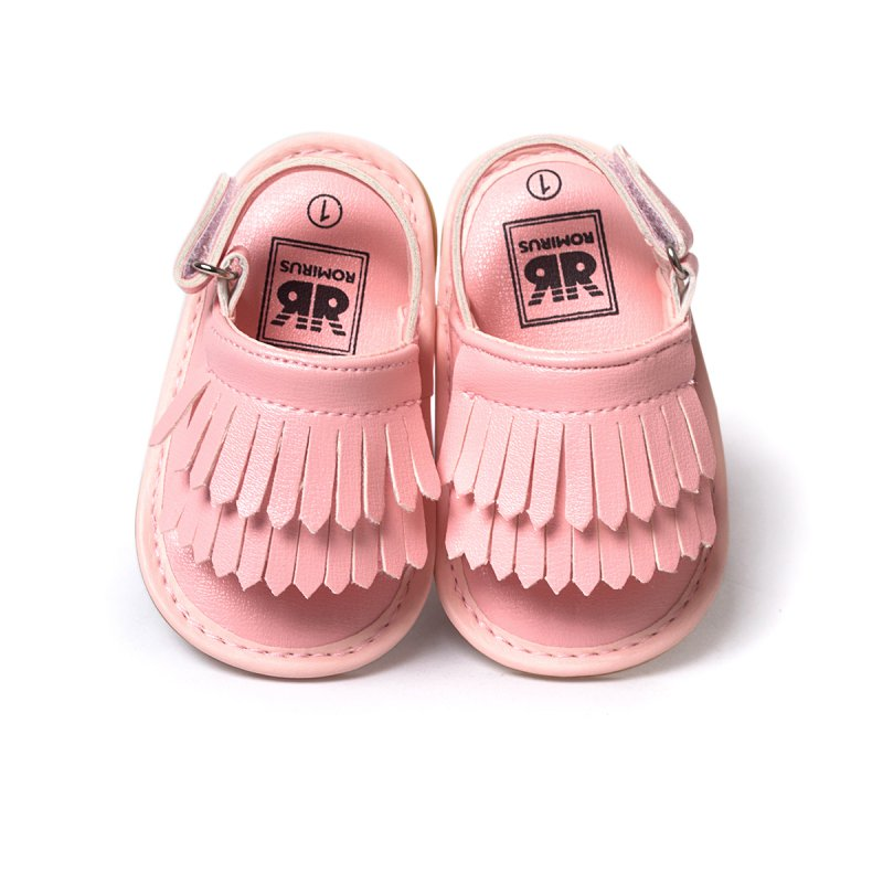 Baby Sandals Summer Leisure Fashion Baby Girls Sandals of Children PU Tassel Shoes 7 Colors