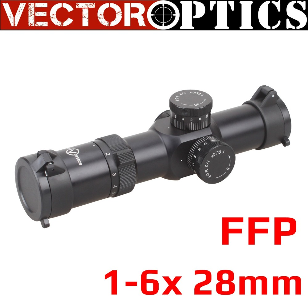 Vector Optics Apophis 1 6x28 FFP 35mm Tactical AR15 Compact Rifle Scope MP MOA Reticle