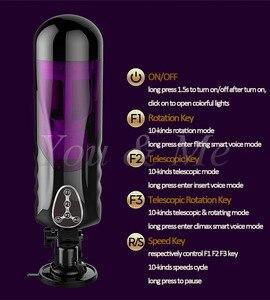 Image 5 - ใหม่อัตโนมัติความเร็วสูง Telescopic หมุนเสียงเครื่องหีช่องคลอด Vibrator เพศของเล่นสำหรับชายไฟฟ้าชาย Masturbators