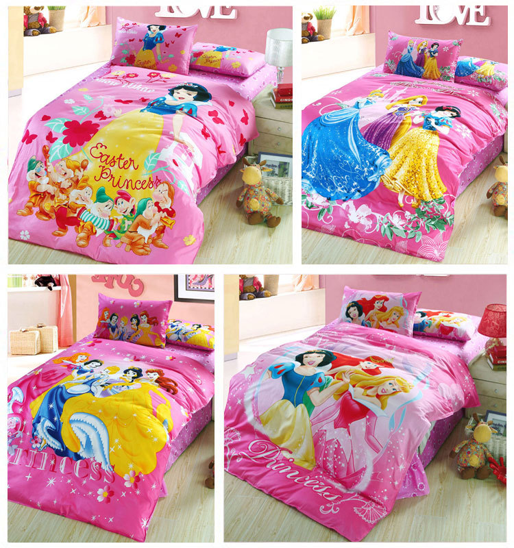 Popular snow white bedding buy cheap snow white bedding lots from china snow white bedding - Twin size princess bed set ...