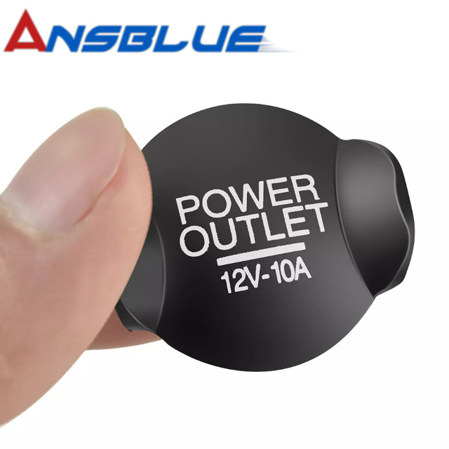 Ansblue 2PCS Cigarette Outlet Cover Cap Universal Auto Car 12V 21mm 2019 Socket Lighter Cap For Ford /Focus /Fiesta /Mondeo