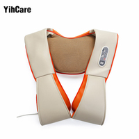 YihCare U Shape Electric Kneading Shiatsu Back Neck Shoulder Massager Pillow Full Body Infrared Heating Massager