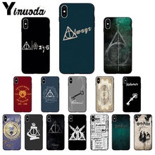 Yinuoda always Harry Potter Deathly Hallows Phone Case Cover for Apple iPhone 8 7 6 6S Plus 5 5S SE XR X XS MAX Mobile Cases(China)
