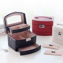 2020 yeni otomatik mücevher kutusu 3 kat takı çantası mücevher paketi deposu tutma yüzük kolye bilezik küpe festivali hediye