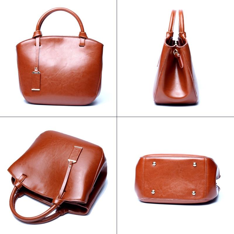 Brown Real Leather Ladies Bags Women Designer Crossbag Cow Genuine Leather Tote Bag