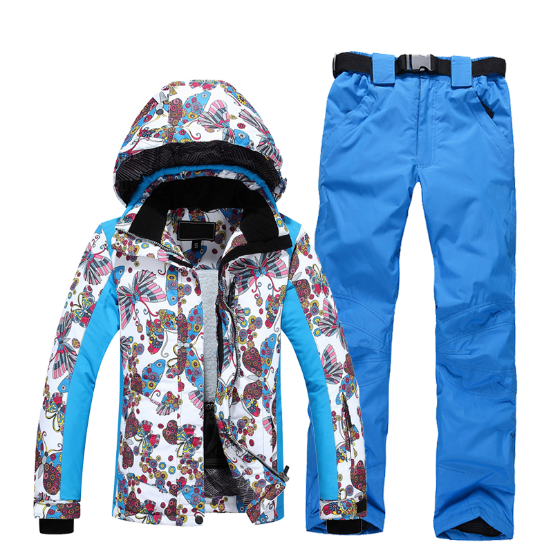 2018 New Style, Outdoor Ski Suit,  Waterproof And Warm Climbing Suit, Single Board, Double Ski Jacket + Pants Suit