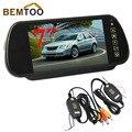"""BEMTOO 7 """"TFT LCD Монитор Зеркала Автомобиля + 2.4 Г Беспроводной Адаптер с линией триггера, Бесплатная Доставка"""