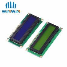 1 pçs/lote 1602 16x2 personagem módulo de exibição lcd hd44780 controlador azul/tela verde blacklight lcd1602 lcd monitor 1602 5 v
